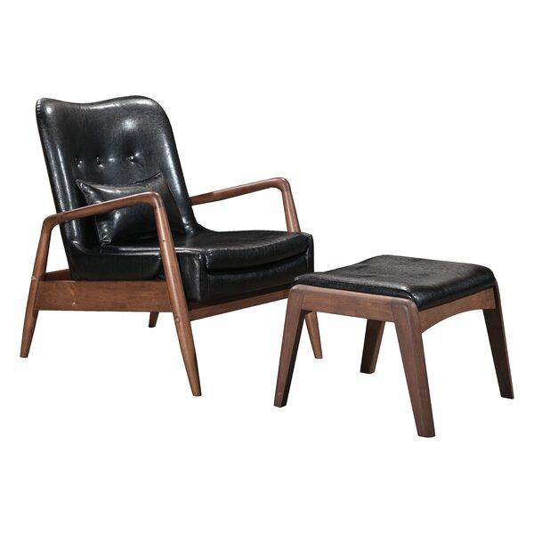 Marlowe Lounge Chair and Ottoman by Corrigan Studio