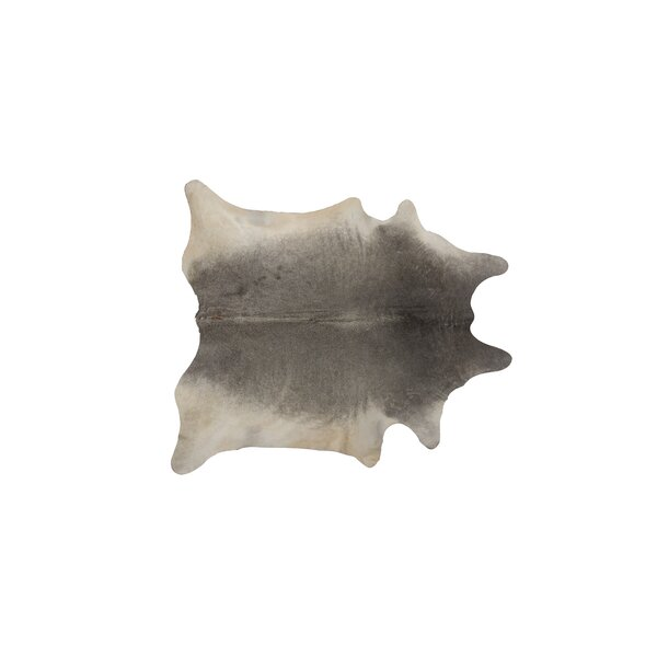 Plainsboro Hand-Woven Cowhide Gray Area Rug  by Latitude Run