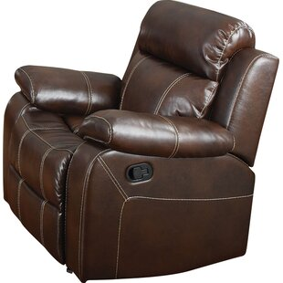 Reviews Chestnut Manual Glider Recliner ByDarby Home Co