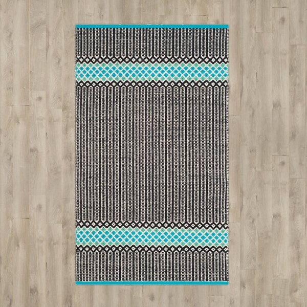 Shevchenko Place Hand-Woven Turquoise Area Rug by Wrought Studio