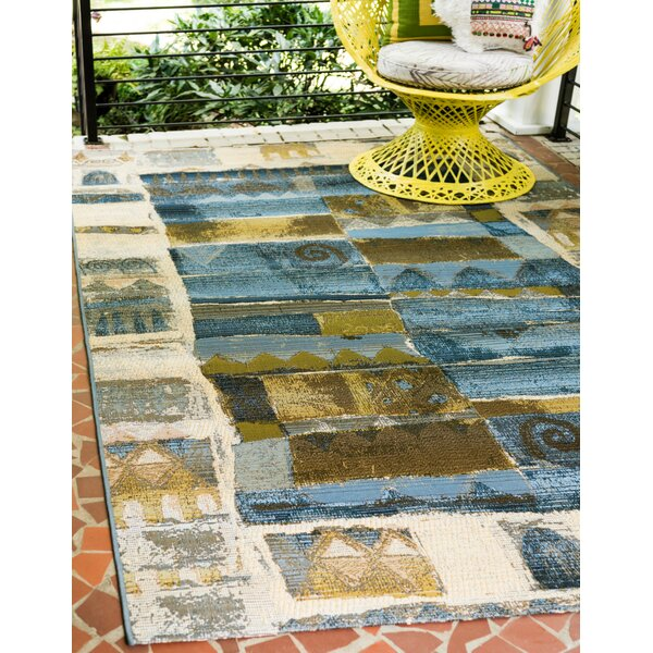 Jamie Blue Indoor/Outdoor Area Rug by Bloomsbury Market