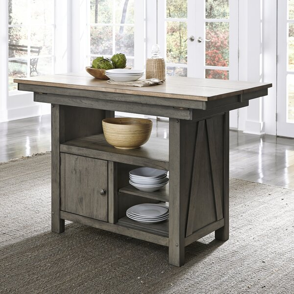 Kruger Kitchen Island by Gracie Oaks