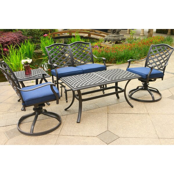 Dalessio 5 Piece Sunbrella Sofa Seating Group with Cushions by Darby Home Co
