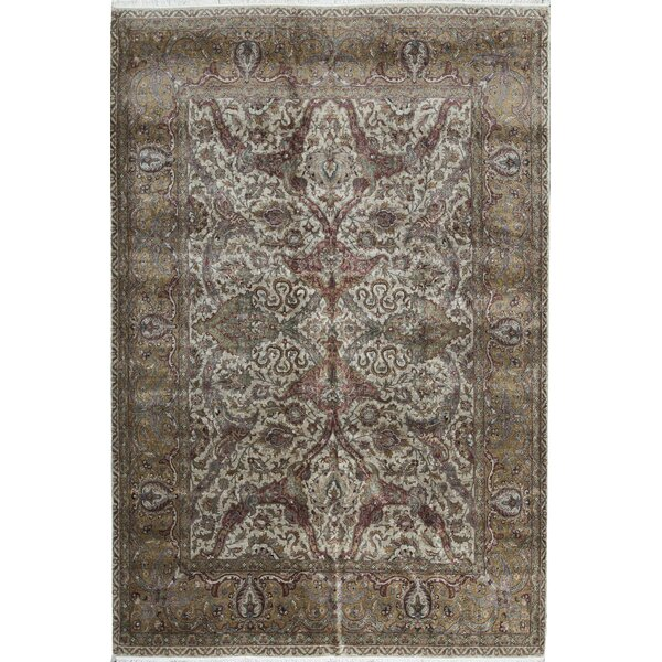 One-of-a-Kind Suruchi Hand-Knotted Brown 10'6 x 15'3 Wool Area Rug