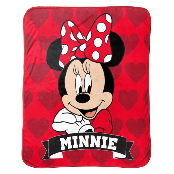 Disney Minnie Mouse Hearts Travel Blanket by Shopkins