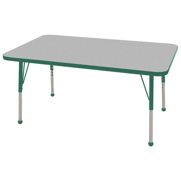 Thermo-Fused Adjustable 30 x 48 Rectangular Activity Table by ECR4kids