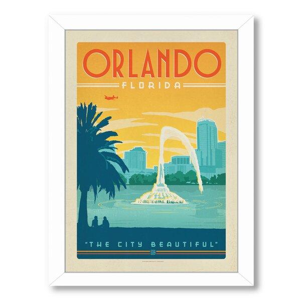 Orlando Framed Vintage Advertisement by East Urban Home