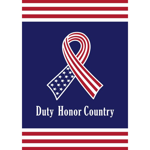 Duty, Honor, Country 2-Sided Garden flag by Toland Home Garden