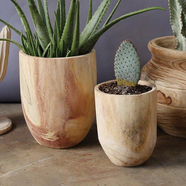 Loughlin 2-Piece Wood Pot Planter Set by Union Rustic