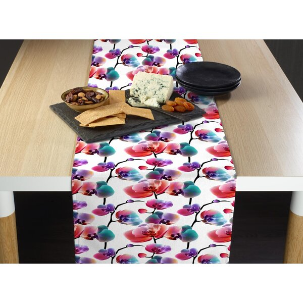 Mccluney Rainbow Blossoms Table Runner by Latitude Run