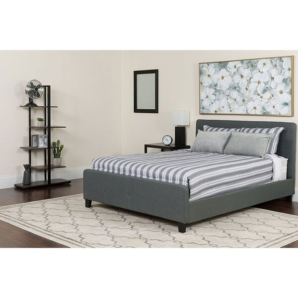 Clian Tufted Twin Upholstered Platform Bed with Mattress by Ebern Designs