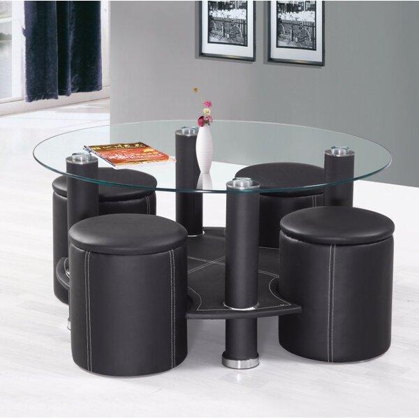 Ferlin Appealing Coffee Table with 4 Ottomans by Orren Ellis