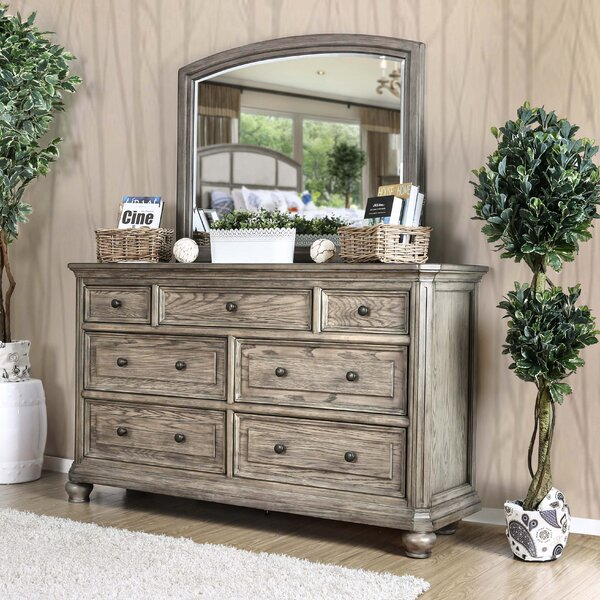 Gaetan Drawer 7 Dresser with Mirror by Darby Home Co