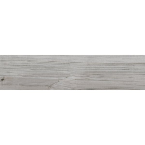 Havenwood Platinum 8 x 36 Porcelain Wood Look Tile in Gray by MSI
