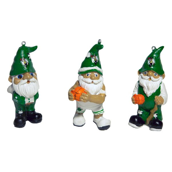 3-Piece NBA Gnome Ornament Set by Forever Collectibles