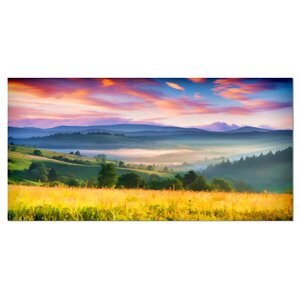 'Beautiful Mountainous Region' Painting Print on Wrapped Canvas by Design Art