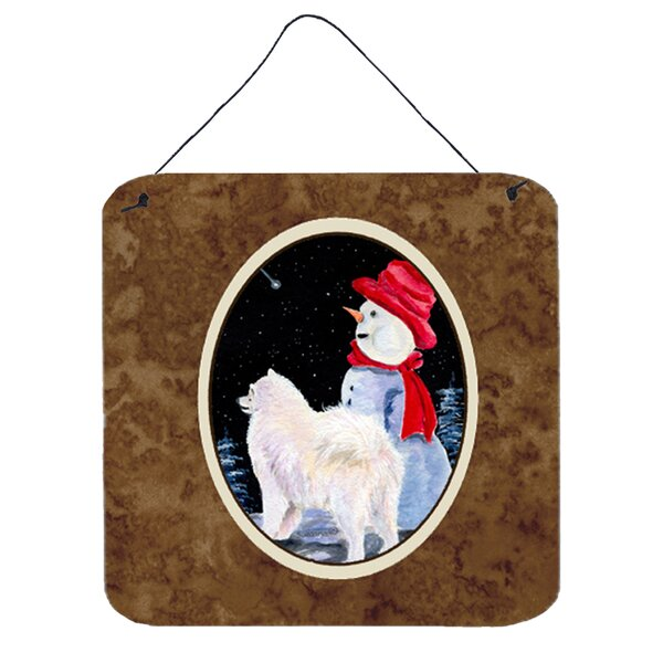 Samoyed Painting Print Plaque by Caroline's Treasures