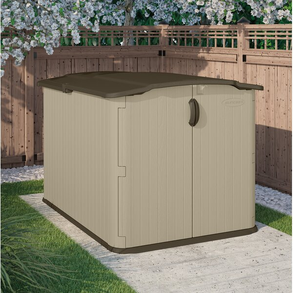 Vanilla Outdoor 4 ft 10 in. W x 6 ft. 8 in D Plastic Horizontal Tool Shed by Suncast Suncast