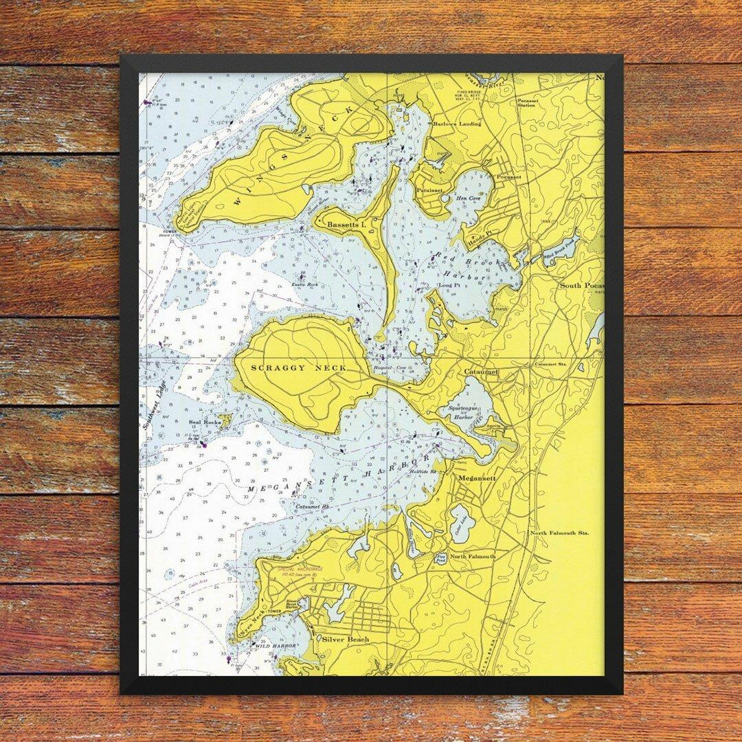 Breakwater Bay \'Cataumet, Megansett & Red Brook Harbor Nautical ...