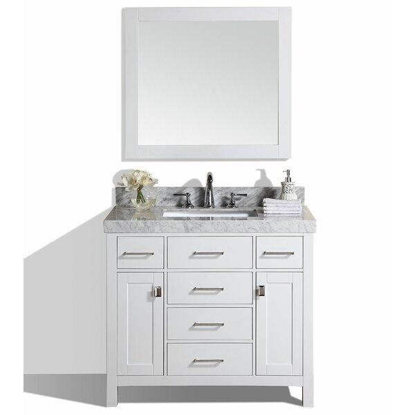 Laub 41 Single Modern Bathroom Vanity with Mirror by House of Hampton
