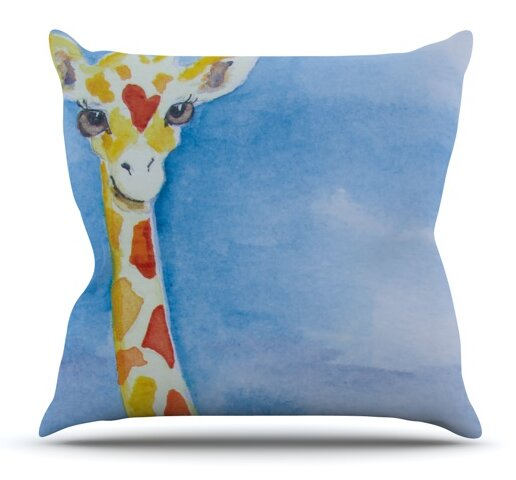 Topsy by Padgett Mason Outdoor Throw Pillow by East Urban Home