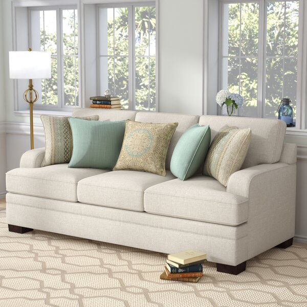 Simmons Upholstery Hattiesburg Parchment Sofa by Three Posts
