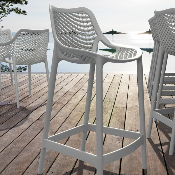 Curnutt 25.6 Counter Height Patio Bar Stool (Set of 2) by Mercury Row