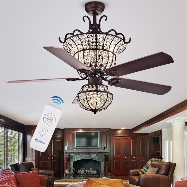 52 Drumcullen 5 Blade Ceiling Fan with Remote by Astoria Grand