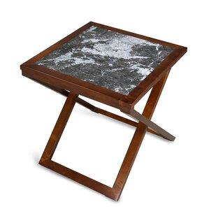 Red Barrel Studio Triple Rock X/Cross Legs End Table