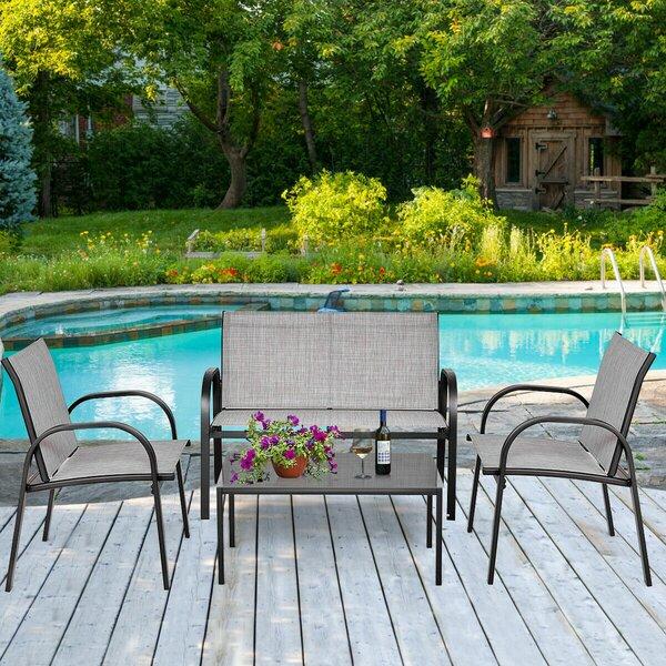 Krick Patio Garden Furniture 4 Piece Sofa Seating Group by Ebern Designs