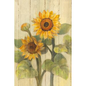Summer Sunflowers II Painting Print on Wrapped Canvas by August Grove