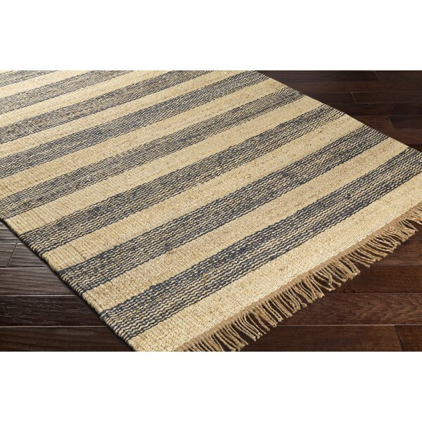 Boughner Hand-Woven Rectangle Blue/Neutral Area Rug by Three Posts