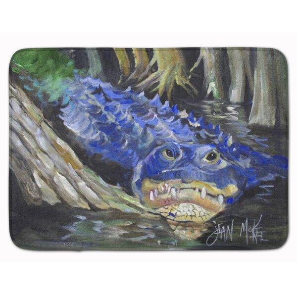 Alligator Memory Foam Bath Rug by East Urban Home