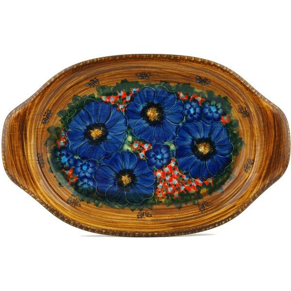 Tropical Wildflowers Platter by Polmedia