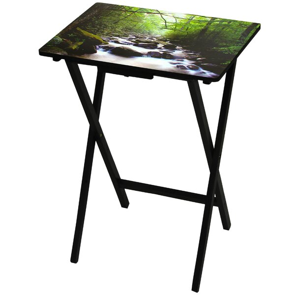 Coffield River of Life TV Tray by Millwood Pines