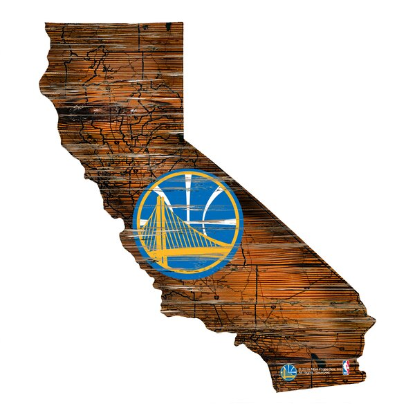 NBA Warriors Distressed State Wall Décor by Fan Creations