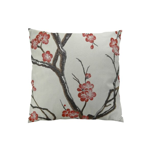 Japanese Blossom Throw Pillow by Plutus Brands