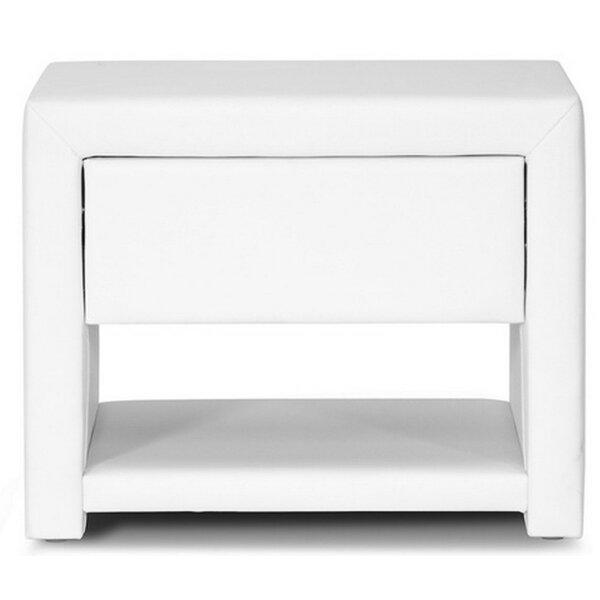 Gillispie Upholstered 1 Drawer Nightstand by Orren Ellis
