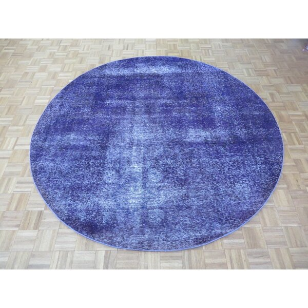 Ahern Hand-Knotted Wool Purple Area Rug
