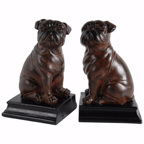 Whimsical Bull Dog Bookends (Set of 2) by Alcott Hill