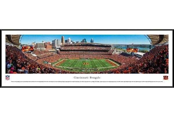 NFL Cincinnati Bengals - 50 Yard Line by Christopher Gjevre Framed Photographic Print by Blakeway Worldwide Panoramas, Inc