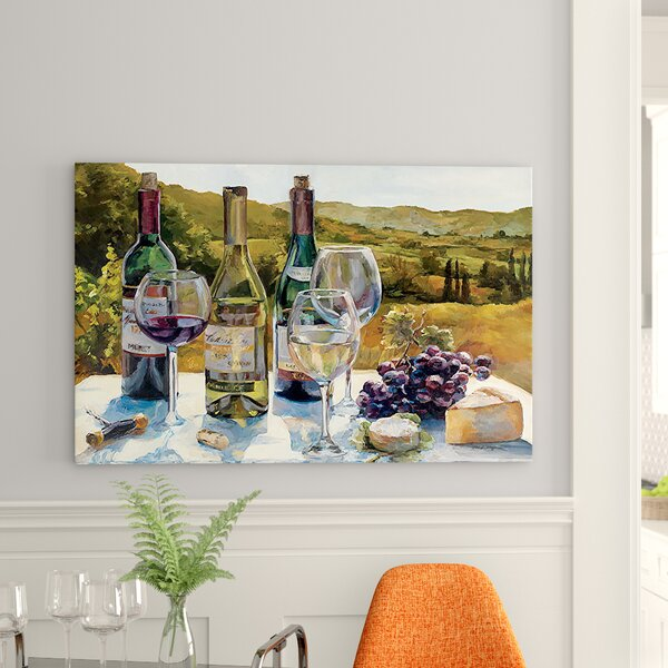 A Wine Tasting Painting Print on Canvas by East Urban Home