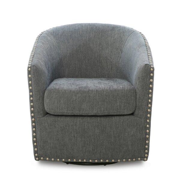 Brynn Swivel Barrel Chair By Darby Home Co
