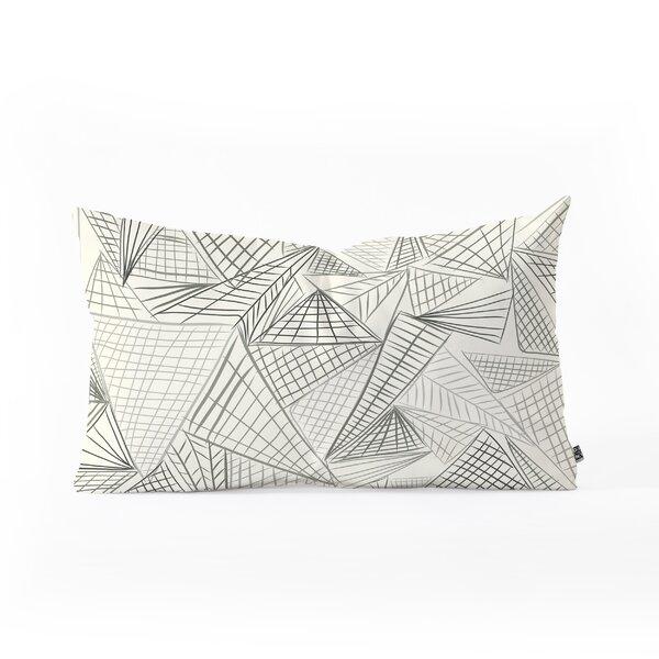 Jenean Morrison Gridlocked Oblong Indoor/Outdoor Lumbar Pillow