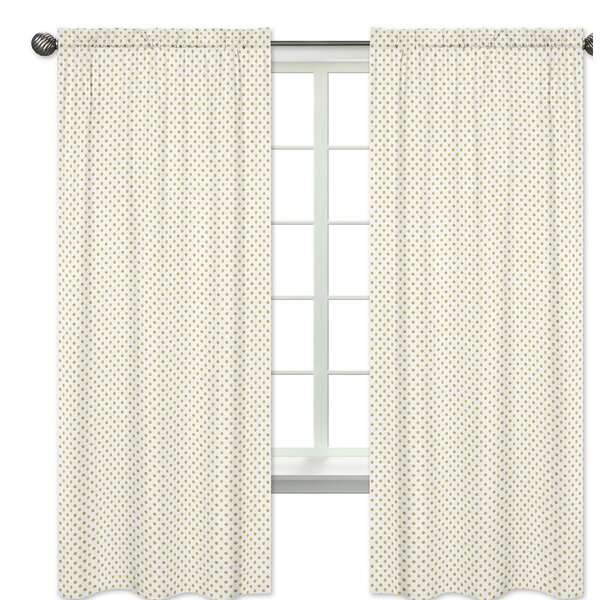 Amelia Polka Dots Semi-Sheer Rod Pocket Curtain Panels (Set of 2) by Sweet Jojo Designs