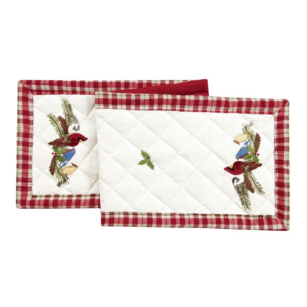 Feathered Quilted Table Runner by C&F Home