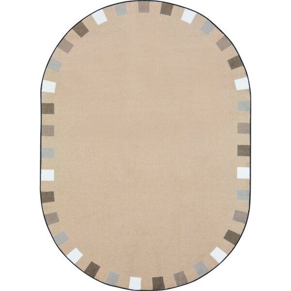 Alpinia on the Border Brown Area Rug by Zoomie Kids