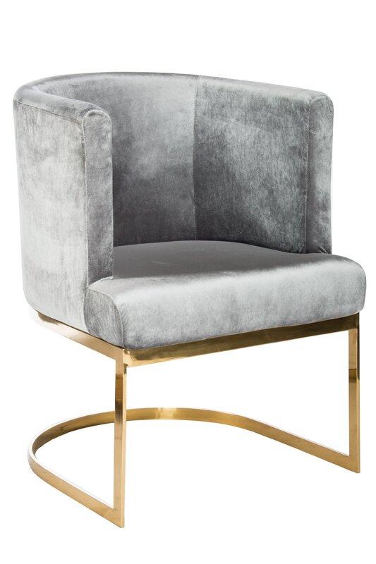 Hazel Gold Chrome Chair