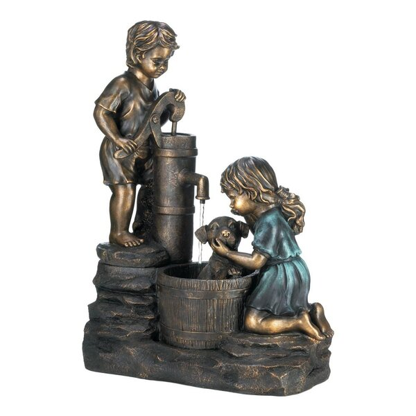 Resin Doggy Wash Fountain by Classic Gifts and Decor