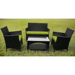Garden Furniture 4 Piece Sofa Set With Cushions